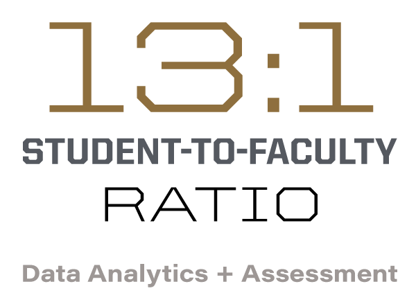 13:1 student to faculty ratio